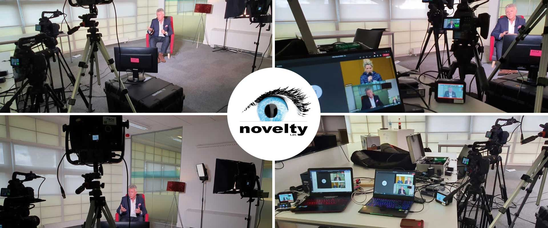 "Visuel Novelty UK's team filming and streaming for the digital event ""Renault eWays"""