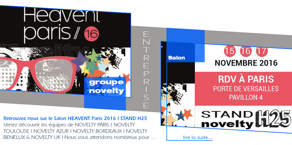 Retrouvez le Groupe NOVELTY | Salon HEAVENT Paris 2016 | STAND H25